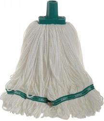 350g Premium Grade Microfibre Round Mop Head Green