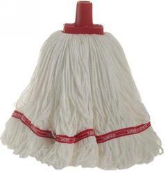 350g Premium Grade Microfibre Round Mop Head Red