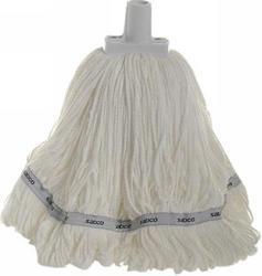 350g Premium Grade Microfibre Round Mop Head White