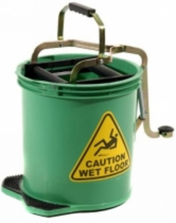 16L Pro Mop Roller Mop Bucket Green