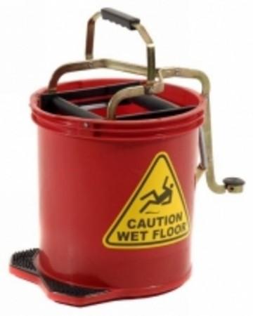 16L Pro Mop Roller Mop Bucket Red